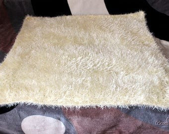 DeLuxe Psychedelic Furry Throw/Cover/Blanket Crocheted From Extra Fluffy Polyester Yarn