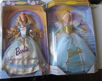 Sleeping Beauty and Cinderella Barbies Collector Edition NIB 1997