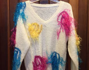 1980s // MY STRINGS EXPLODED! // Vintage Kitschy Pullover Sweater