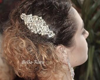 crystal bridal comb, wedding veil comb, rhinestone bridal comb, crystal hair comb, wedding hair comb, vintage hair comb