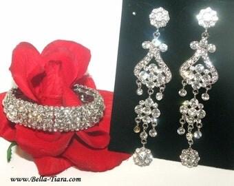 crystal drop earrings, chandelier earrings, rhinestone earrings, wedding earrings, prom earrings, wedding jewelry, bridal earrings