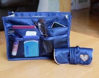 Luxury Purse ORGANIZER Insert, Purse Insert, Bag Organizer, Handbag Organizer, handbag organiser, satin fabric