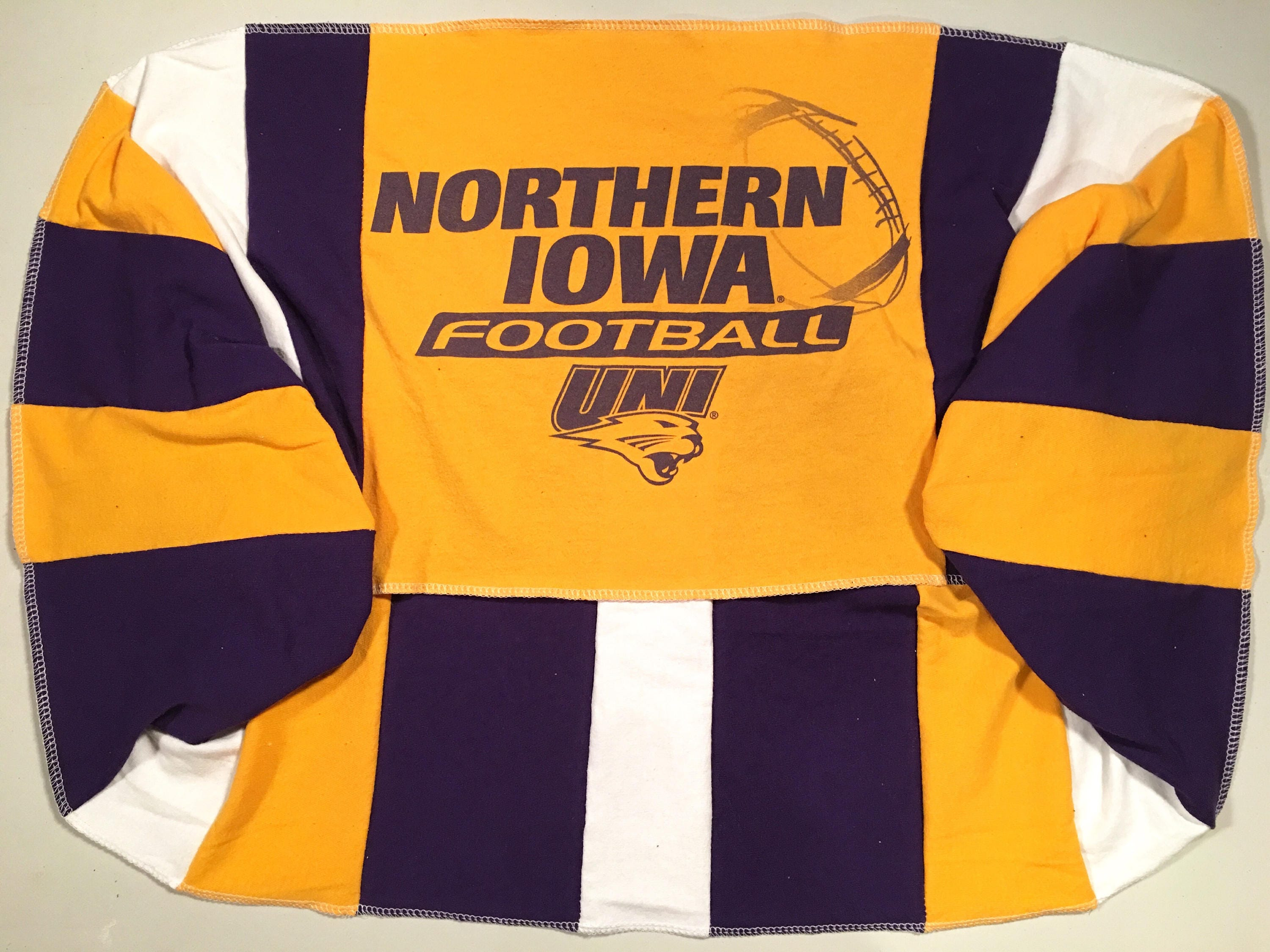 Infinity Scarf UNI University of NORTHERN IOWA Panthers Team Spirit Upcycled Woman's T-Shirt New Handmade Loop Scarves