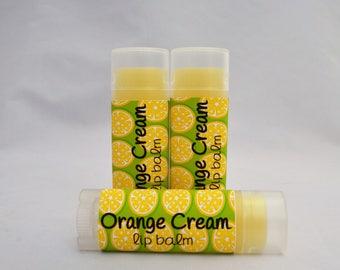 Orange Cream Lip Balm, Orange Cream Chapstick, Orange Lip Balm, Orange Lip Butter, Orange Chapstick, Lip Moisturizer, Organic Lip Balm