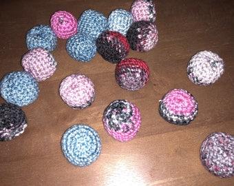 3pk Crochet Catnip Balls