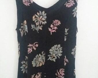 Vintage floral 90s slip dress