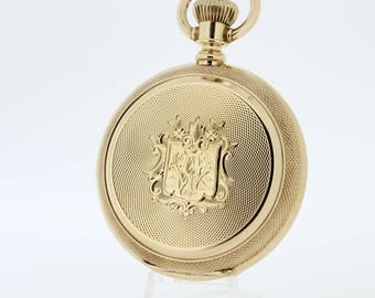 14K yellow gold 1883 Waltham Pocket watch