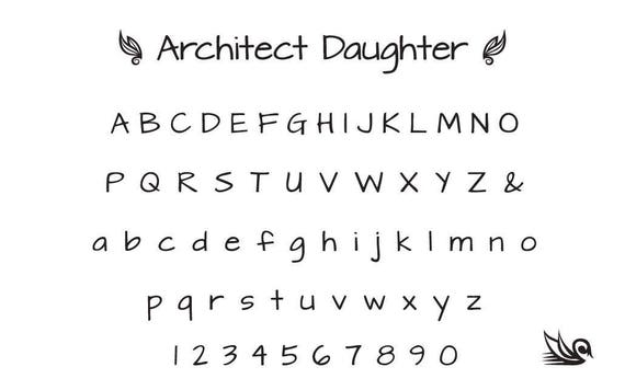 ARCHITECT's DAUGHTER 2.50mm font STAMPS,# S16.2 Complete Set ...