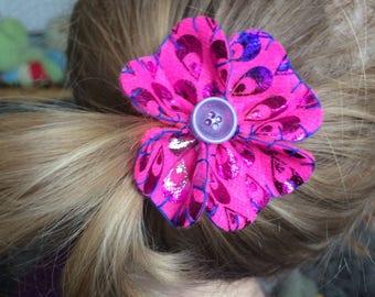 Hand stitched felt hair clip