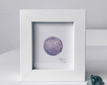 Framed Mini Moon Limited Edition Number 3/10