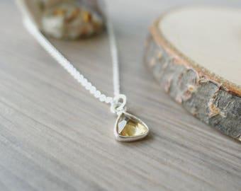 Citrine Necklace, November Birthstone, Sterling Silver, November Jewelry, Yellow Birthstone, Citrine Jewelry, Genuine Citrine, November Gift