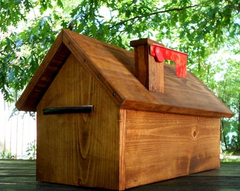 Custom Pine Mailbox Wedding Gift Simple Wood Mailbox Handcrafted Mailbox  Fits Standard Post