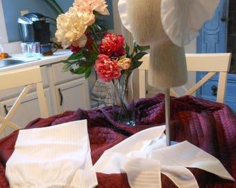 Hand-sewn Suite of Accessories -- Cap, Half Handkerchief & Apron