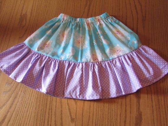 Ready to ship/On sale size 6/Frozen skirt/girls skirt/Frozen gift/Frozen Birthday/Frozen birthday skirt/gift for girls/ruffled skirt