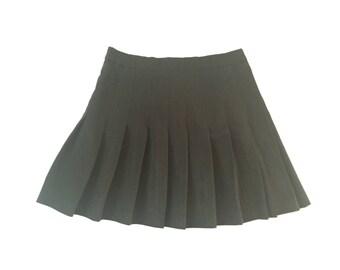 Vintage Black Tennis Skirt