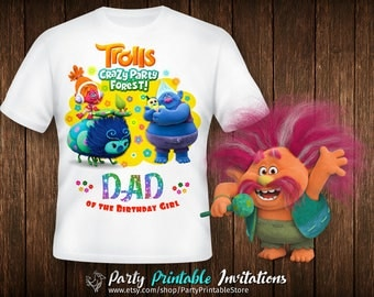 Trolls birthday shirt, Trolls birthday shirt iron on, Trolls birthday shirt printable, Trolls birthday shirt family