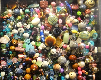 GRAB BAG- New  Assorted mix of Jewelry Making Beads, Findings ..etc.. 1/4 pound- All quality items