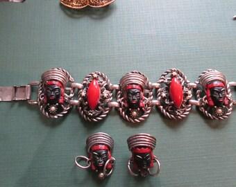 Selro Blackamoore Bracelet and earrings