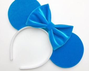 Berry Blue Velvet Mouse Ears