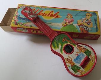 Tin litho Japanese ukulele