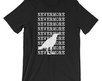 Nevermore T-shirt - Edgar Allan Poe The Raven poetry gothic