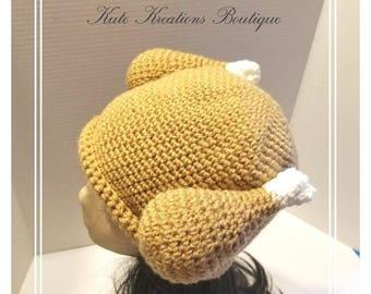 Crochet Turkey Dinner Hat!  Turkey Hat. Baby/Adult Size. Crochet Turkey hat!***Last Chance Only 1 Left***Ready to Go***3-6 MONTHS ONLY***