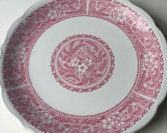 Vintage, Dinnet Plate, Syracuse China Company, Strawberry Hill Pattern, Made in USA.
