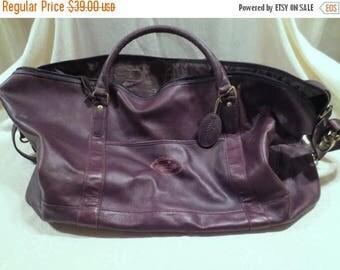 50% Off Estate Sale Wholesale Vintage Bugatti Designer Lined Brown Leather Duffle Bag, Bulk Lot 4, Vintage Luggage, Travel Bag, Tote Bag, Re