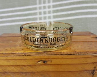 Golden nugget gambling hall ashtray john huxley casino equipment