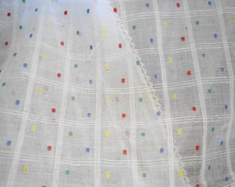 Vintage curtains from France - 'nets' suffused lighting