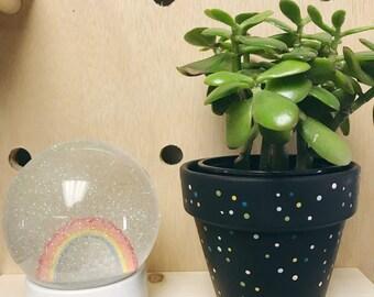 Confetti Planter in Black