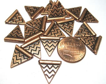 Antique Copper Triangle Spacer Beads