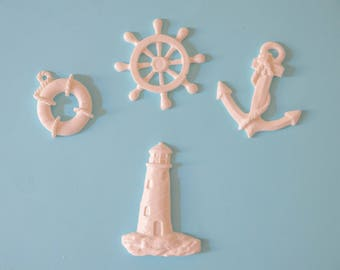 Set of 4 Nautical Edible Fondant decorations