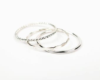 ALEXIA - stack ring sterling silver