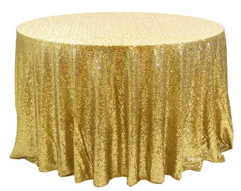 gold sequin wedding tablecloth 72 inch round polyester sequin cloth shiny sequin quality tablecloth for
