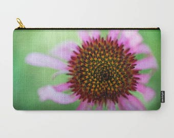 Floral Makeup Bag Large, Pretty Flower Gift Woman, Accessory Pouch With Zipper, Nature Photography, Back To School Pencil Case, Cosmetic Bag