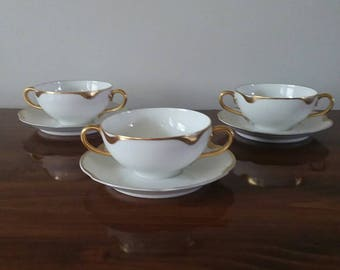 Late 1800s to early 1900s Haviland & Co. Limoges Bouillon Bowls.