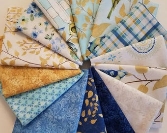 Fabric Bundle Timeless Treasure Fly Away line designed by Janelle Penner - 14 different fabrics