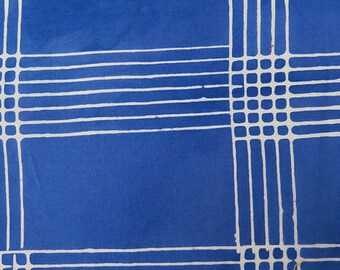 1/2 Yard Chroma Handcrafted Batik Plaid in Cobalt from Andover designed by Alison Glass 8132-B