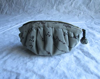 13cm Fluffy Soft Dumpling-like Silk Kimono Zipper Pouch - made with vintage silk Japanese kimono fabric