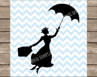 Disney SVG, Mary Poppins svg, svg, svg files, Mary Poppins, svg designs, silhouette, svg file for cricut, svg disney Mary Poppins Clipart
