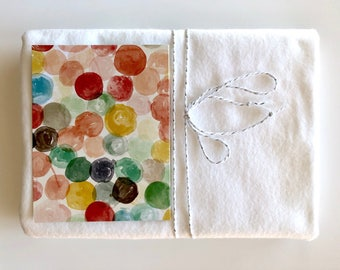 White Organic Cotton Baby Blanket * Organic Flannel * Receiving Blanket * Ready to Ship