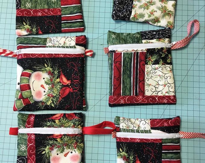 Gift or money bag  wristlet mini purse 6 1/2 inch