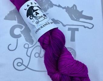 Orchid's Heart: 231 yards 75/25 Superwash Merino/Nylon fingering weight yarn in Endurance 50-Gram.