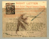 "Original Mixed Media 'Night Letter' approx 8"" X 6.5"""