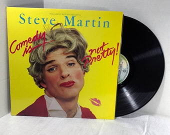 Steve Martin Comedy Is Not Pretty vinyl record and vintage Poster 1979 Comedy Humor VG+