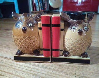 Vintage Wise Owl Bookends