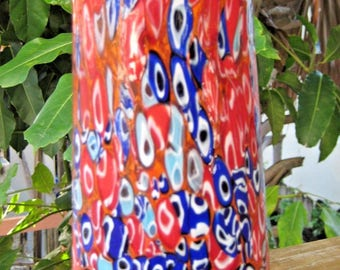 Millefiori glass vase from Italy