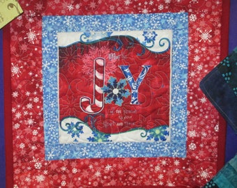 Joy Holiday wall hanging or table topper