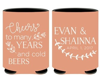 Rustic Wedding Can Coolers Cheap, Cheap Wedding Favors, Cheap Can Coolers for Wedding or Rehersal Dinner Party Favors, Cheap Beer Cooler (2)
